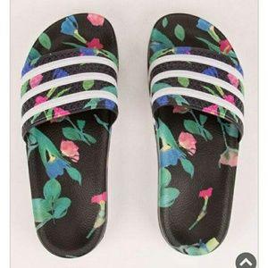 Adidas Floral Slides